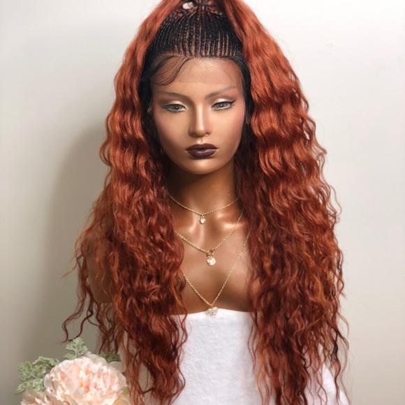 wigs Accessories - TINA| CURLY LACE FRONT OMBRÉ WIG